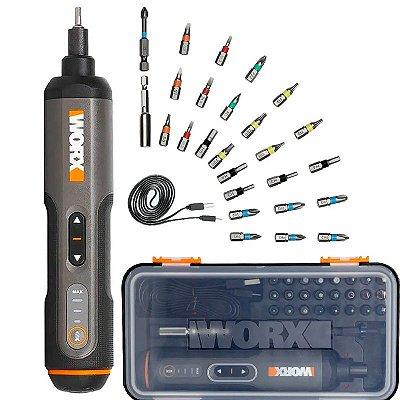 Parafusadeira à Bateria Worx Screwdriver 3,6V Com Carregador e Maleta