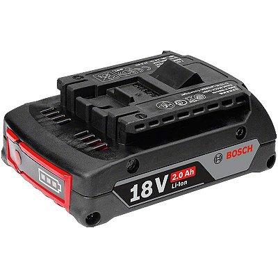 Bateria de Íons de Lítio Compacta Bosch GBA 18V 2,0Ah Duração Prolongada