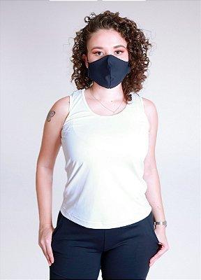 Regata Branca + Máscara Antiviral Dupla Face