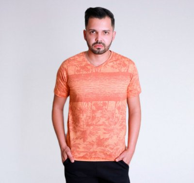 Camiseta Palm Tree Laranja