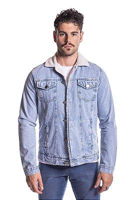Jaqueta jeans apeluciada