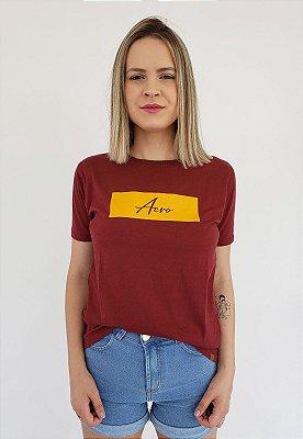 T-Shirt Aero Retang Bordô