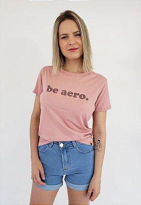 T-Shirt Baby look Be Aero Rosa