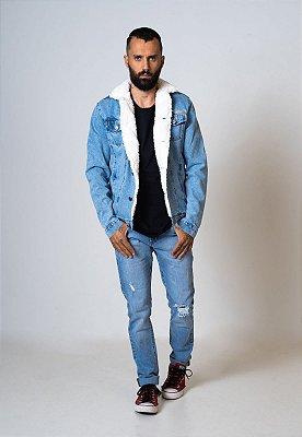 Jaqueta Jeans Aero Jeans forrada Com pelos