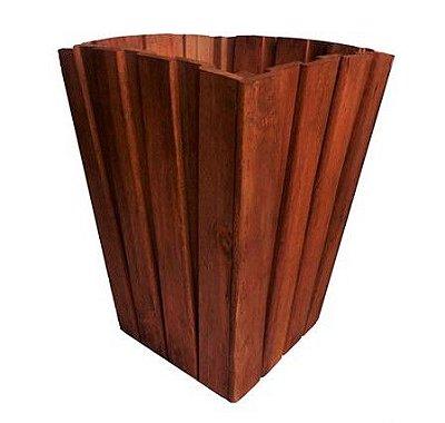 Cachepô de Madeira Envelhecido Cônico- 32 x 45cm