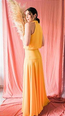 Vestido Afrodite - Mostarda