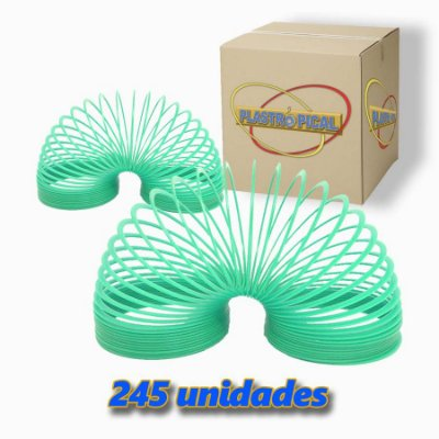Caixa de Mola Maluca Grande Azul Celeste c/ 245 Unidades