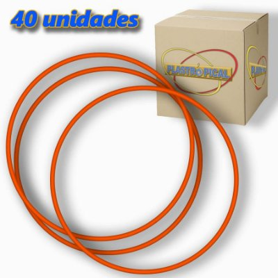 Caixa de Bambolê Infantil Plastico Reforçado Vermelho 50cm C/ 40 Unidades