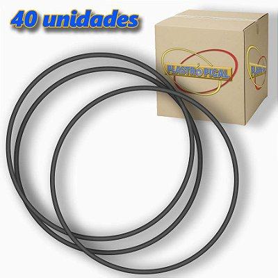 Caixa de Bambolê Grande Plastico Reforçado Preto 65cm C/ 40 Unidades