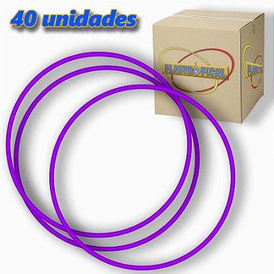 Caixa de Bambolê Grande Plastico Reforçado Roxo 65cm C/ 40 Unidades