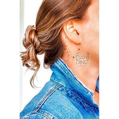 Brinco ear bling multi colors - Coleção Strong Colors
