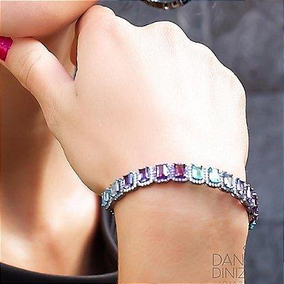 Bracelete cristais e zircônias