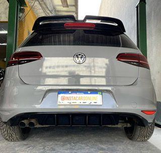 Difusor Spoiler VW Golf TSi Saída Quad Black Piano