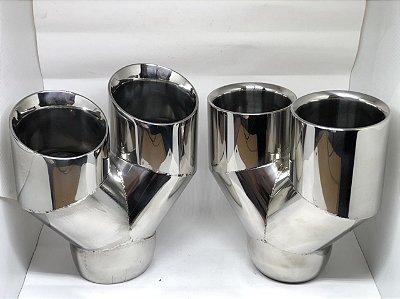 """Ponteira 3,5"""" Duplo Inox Diversos modelos"""
