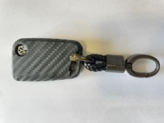 Capa de chave em silicone estilo Carbono - Chaveiro Grátis