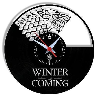 Relógio de Vinil - Got Game Of Thrones