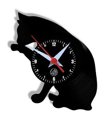 Relógio de Vinil - Gato Gatinho Petshop