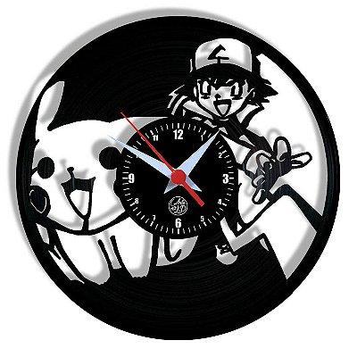 Relógio de Vinil - Pokémon Anime Tv