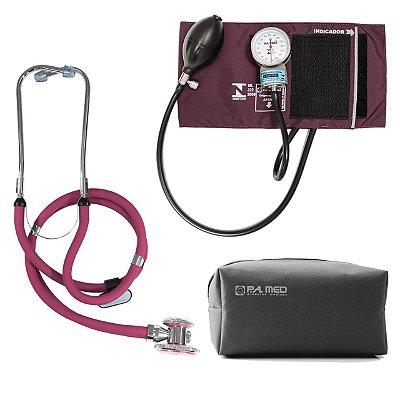 Kit P.A. Med Vinho com Estetoscópio e Aparelho de pressão