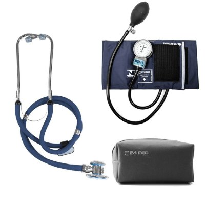 Kit P.A. Med Azul com Estetoscópio e Aparelho de pressão