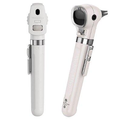 Kit Otoscópio e Oftalmoscópio Welch Allyn Pocket Plus Branco