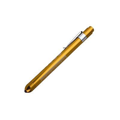 Lanterna Clínica Stetho Watch com Grau Pupilar Dourada