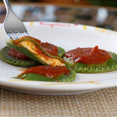 Raviollini (verde) Búfala e Manjericão 1kg