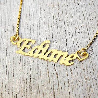 Colar personalizado nome e corações