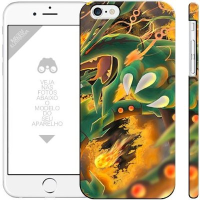 POKÉMON   - Rayquaza  |  apple - motorola - samsung - sony - asus - lg | capa de celular