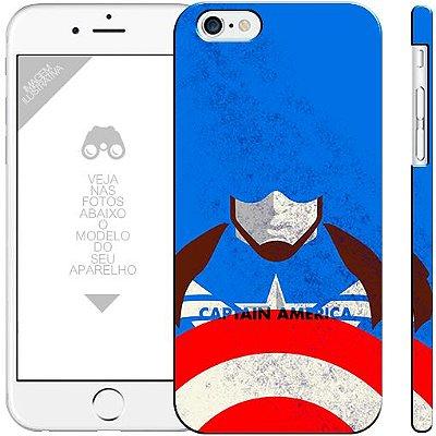 CAPITÃO AMÉRICA  15 - heróis 0|apple - motorola - samsung - sony - asus - lg|capa de celular