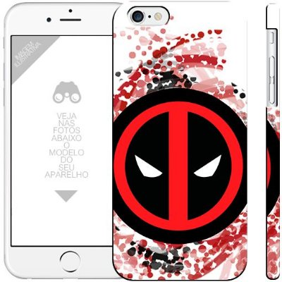 DEADPOOL herói 10  | apple - motorola - samsung - sony - asus - lg | capa de celular