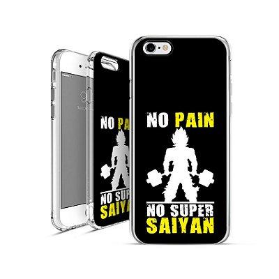 DRAGON BALL Z - no-pain-no-super-saiyan| apple - motorola - samsung - sony - asus - lg | capa de celular