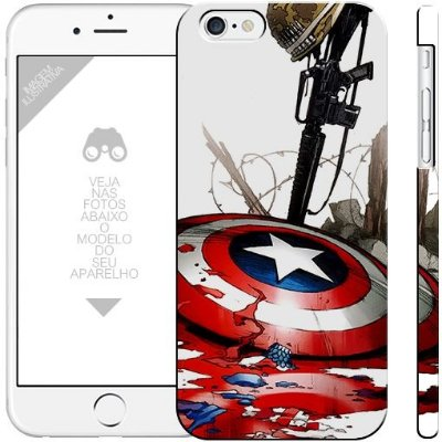 CAPITÃO AMÉRICA  - heróis 7|apple - motorola - samsung - sony - asus - lg|capa de celular
