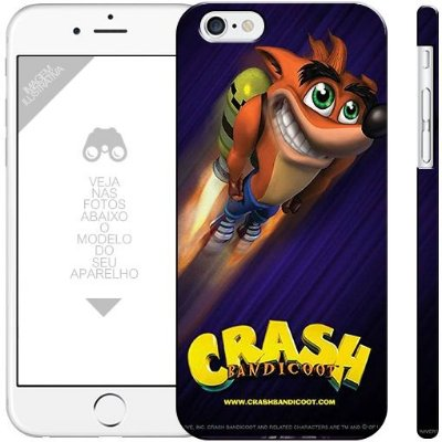 CRASH - coleção games 0 1 |apple - motorola - samsung - sony - asus - lg |capa de celular