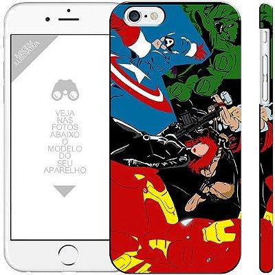 VINGADORES - heróis - 1 | apple - motorola - samsung - sony - asus - lg | capa de celular