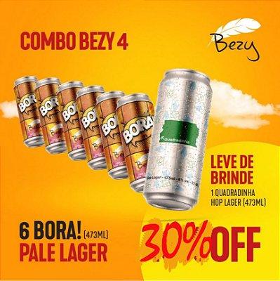 Bora! India Pale Lager - caixa com 6 unidades de 473ml + brinde