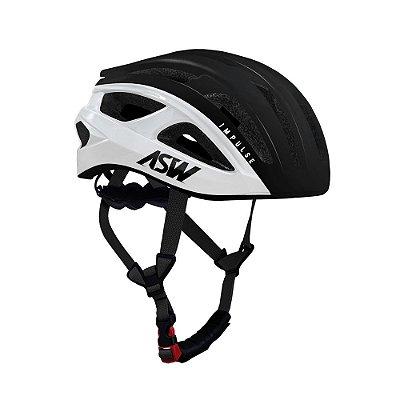 Capacete ASW Bike Impulse Branco/Preto