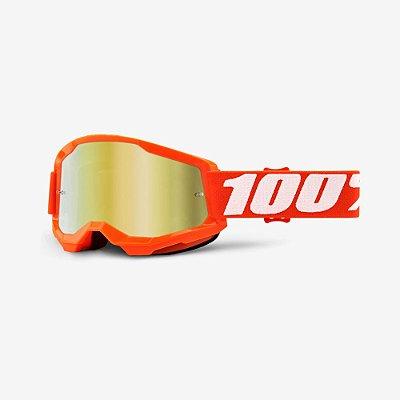 Óculos 100% Strata 2 Laranja Espelhado