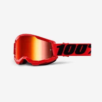 Óculos 100% Strata 2 Vermelho Espelhado