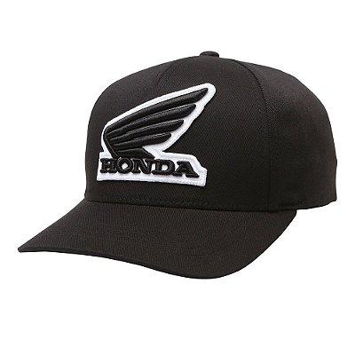 Boné Fox Honda Flexfit Preto