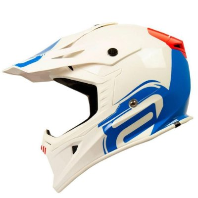 Capacete ASW Core Legacy Branco/Azul/Vermelho