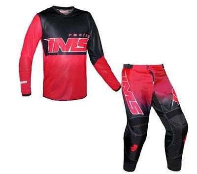 Conjunto IMS Infantil Army Vermelho