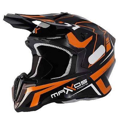 Capacete Mattos Racing Combat MTR02 Laranja