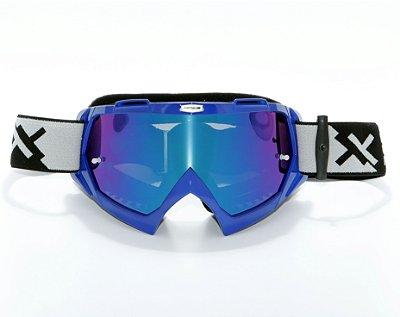 Óculos Mattos Racing Combat Espelhado Azul
