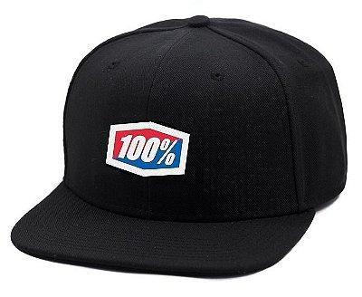 Boné 100% Snapback - Preto