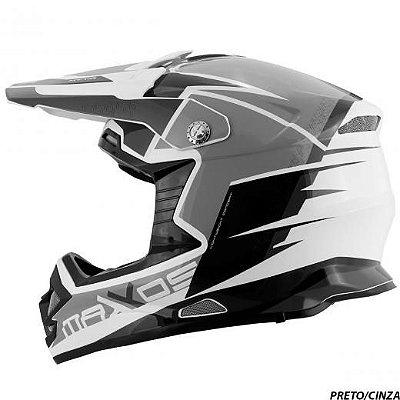 Capacete Mattos Racing MX Pro MTTR Cinza 58