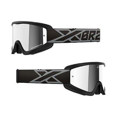 Óculos XBRAND Gox Flat-Out (Espelhado Fumê) - Preto