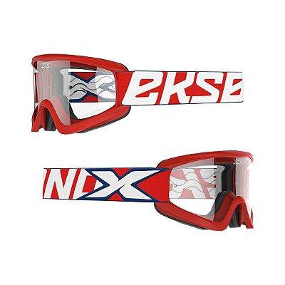 Óculos XBRAND Gox Flat-Out (Transparente) - Vermelho