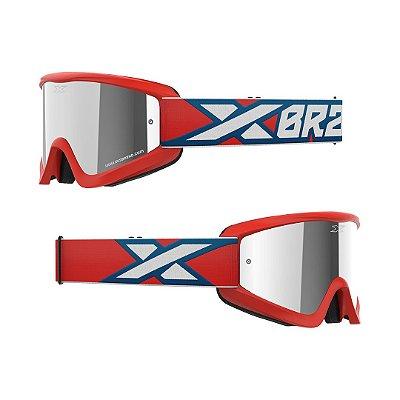 Óculos XBRAND Gox Flat-Out (Espelhado Fumê) - Vermelho