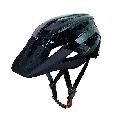 Capacete ASW Bike Accel Frontier Preto Oil Slick